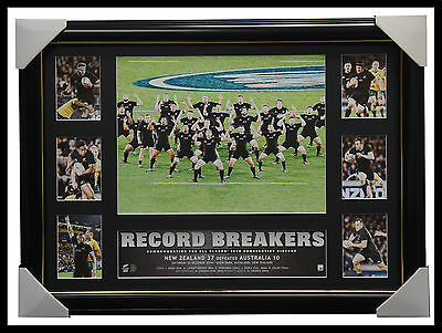 All Blacks Rugby Union 2016 Record Breakers 18 Wins World Record Print Framed