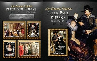 CA13101ab Central Africa 2013 Rubens and his women MNH SET