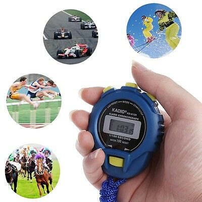 Digital Handheld Sports Stopwatch Stop Watch LCD Timer Alarm Counter