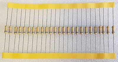 25pcs 0.68 Ohm (0R68) 0.5W Carbon Film Resistor 5% Flameproof