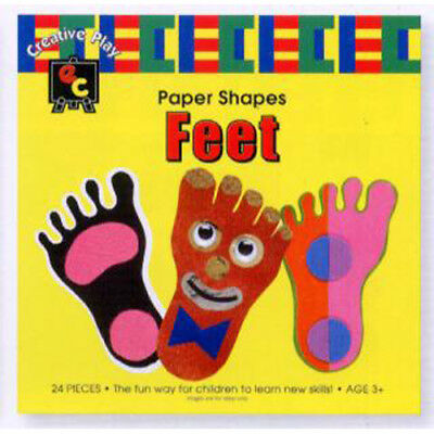 Educational Colours Fun Paper Shapes Feet - 95X160Mm - Pack Of 24 (Rv-0671)