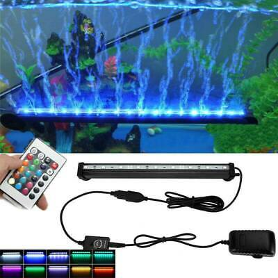 23-102CM LED Aquarium Fish Tank RGB Submersible Air Bubble Light Remote AU Plug