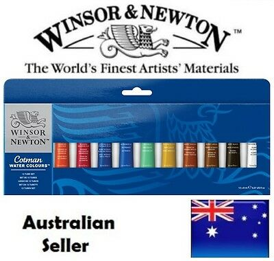 Winsor and Newton Cotman Watercolour Paint 12 x 8ml Tube Set