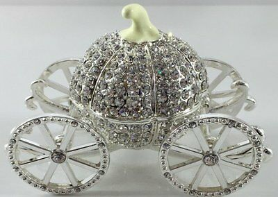 Diamante Cinderella Carriage Coach  Jewel Box Bnib