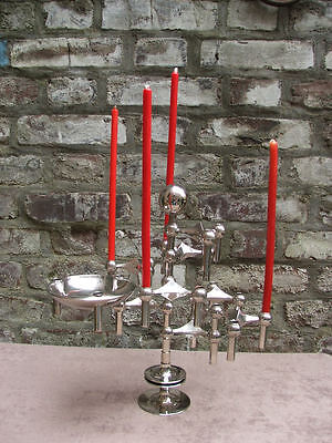 Nagel ensemble 8 candle holders, stand,  bowl and gazing ball Nagel Quist era Ξ