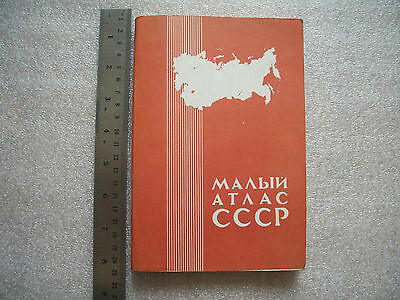 Soviet Russian Book USSR Small Atlas of the USSR Geography Maps Vintage 1982