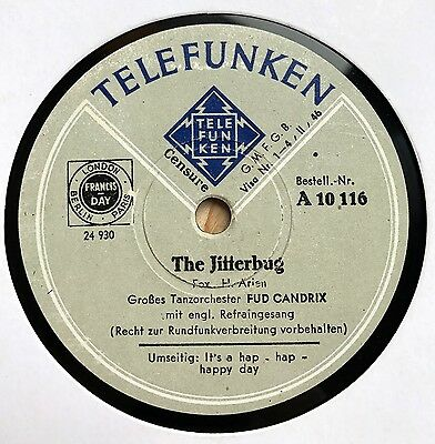 Fud Candrix Orch. / Jane Miller - THE JITTERBUG / It's a hap hap happy day 1940