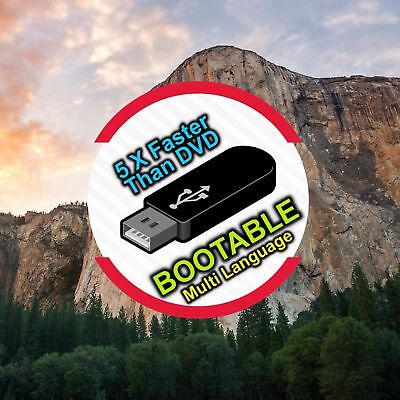 Mac Os X Yosemite 10.10.5 Bootable USB -  RECOVERY, UPGRADE OR FRESH INSTALL