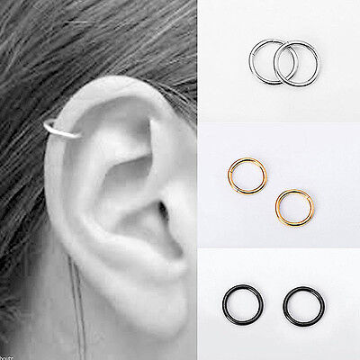 Titanium Hinged Seamless Segment Clicker Septum Piercing Hoop Lip Ear Nose Ring