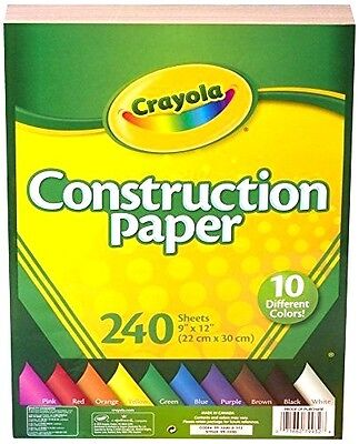 Crayola Construction Paper, 10 Different Colours, 240 Sheet Arts & Crafts,