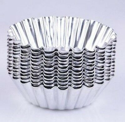 20X Egg Tart Aluminum Cup Cake Cookie Lined Mould Tin Baking Mould Tool Kitchen