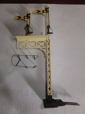 Hornby R170 Distant Junction Signal Double Yellow   Oo Gauge