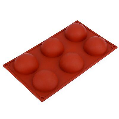 6 Cavities Semi circle Ball Shape Silicone Cake Baking Mold Cake Pan Muffin Cups