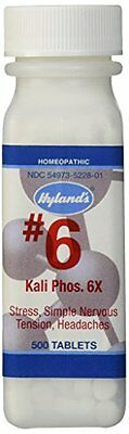 Hyland's Cell Salts #6 Kali Phosphoricum 6X Tablets-500 Count