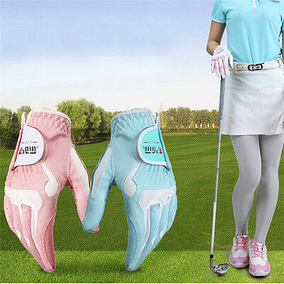 PGM Women Female Golf Gloves Non-slip Sunscreen Breathable Golf Training Gloves