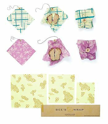 Bee's Wrap Reusable, Washable & Sustainable Cloth Food Storage - 11 Designs