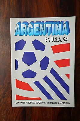 Argentina official team brochure World Cup USA 1994
