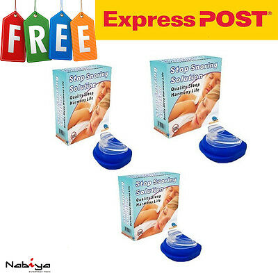 3 x HIGH QUALITY STOP SNORING Anti Snore Sleep Apnea Mouth Guard - Express Post