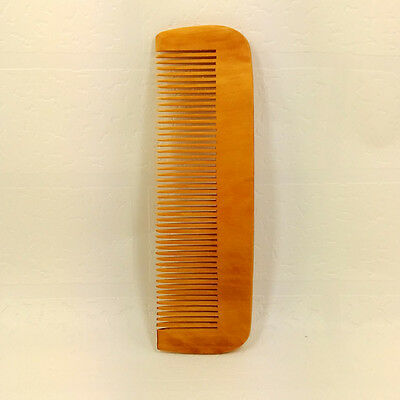 Hair Engraved Natural Peach Wood Wooden Comb Anti-Static Beard Pocket Comb Tool