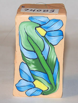 """polymer clay cane, raw, large rectangle # 74083   7/8"""" x 1 5/8"""" x 7/8""""   1 ounce"""
