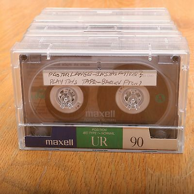 8 Maxell UR90 90 Minute Cassette Audio Tapes Position Normal Type 1