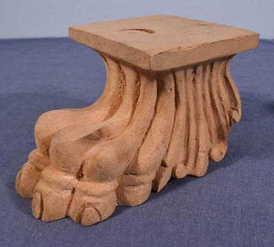*Carved Claw Foot/Leg Solid Wood Trim (4 AVAILABLE)