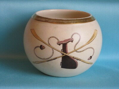 Macintyre porcelain - Ball Vase - Rowing Skulls and Tiller decoration