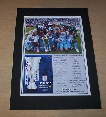 Coventry City - 2017 EFL Checkatrade Trophy Winners Print Mounted To A4