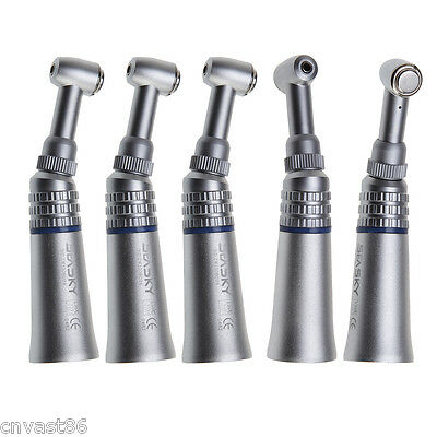 5pcs NSK Style Dental Low Slow Speed Handpiece Contra Angle Push Button Type