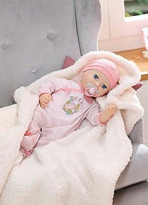 Zapf Creation Baby Annabell Mia So Soft Toy Doll With Dummy, Bottle, Outfit 43cm