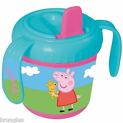 Peppa Pig New  Baby Training Cup Feeding Mug Childrens Drinking Toy Rrp £9.99