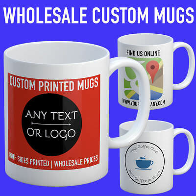 Personalised Custom Printed Mug Cup Image Text Gift Promotional WHOLESALE BULK