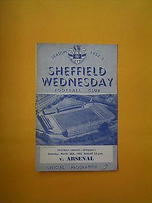 League Division One - Sheffield Wednesday v Arsenal - 20th March 1954