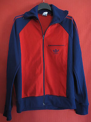 Veste Adidas 70'S Made in France Vintage une poche Rouge Ventex - 174 / M