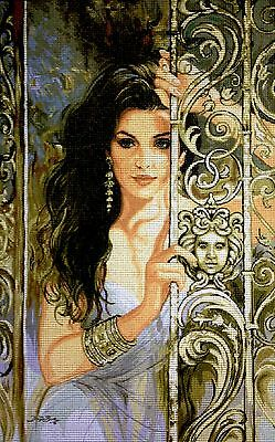 "Gobelin Tapestry Needlepoint Kit ""Lady"" printed canvas 591"
