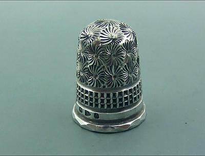 Antique Victorian Charles Horner Silver Thimble Excellent 1897