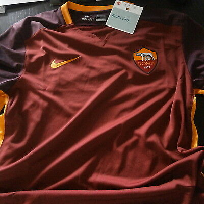 Nike Roma 100% Authentic Home Football Jersey 2015-16 BNWT Totti 658924 678 f247d67cb