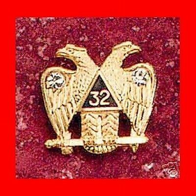 ☆New 32 Degree Wings Down Double Eagle/phoenix Scottish Rite Lapel Pin Tie Tack☆