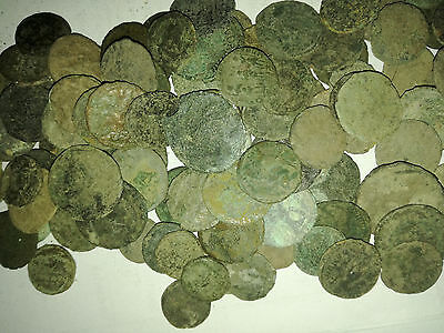 Uncleaned Roman Coins Late Empire