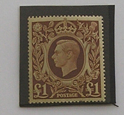 1948 £1. brown SG 478b - Unmounted Mint.