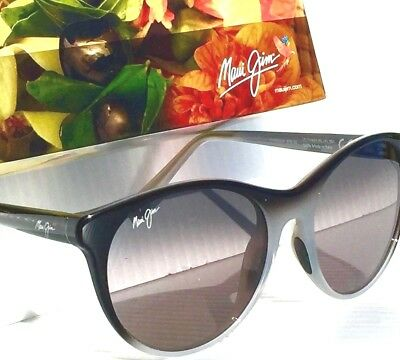 NEW* Maui Jim MANNIKIN Black Grey Fade Gray POLARIZED Women's Sunglass GS704-59