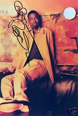 Chris Rock Actor  Comedian Signed 8X10 Promo Loking Scared With Coa