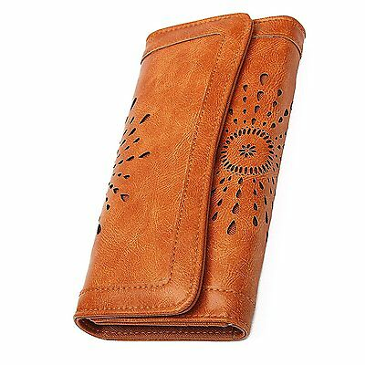OURBAG Womens Lady Leather Wallet Purse Credit Card Clutch Holder Long Wallets