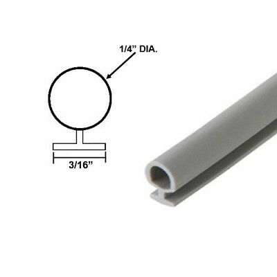 "Bulb Type Weatherstripping for Door/Windows Gray, 1/4"" Dia., 7/32"" Backing 20 ft"