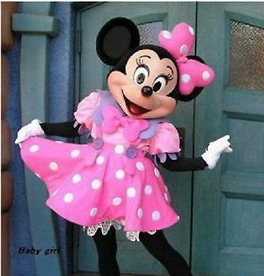 NEW Pink Minnie Mouse Mascot Costume Adult Fancy Dress Halloween EPE