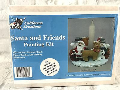 California Creations Santa And Friends Painting Kit New Sealed Gift