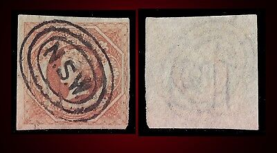1854 New South Wales Queen Victoria 1S. Pale Red Brown Used Sct. 31 Sg.101