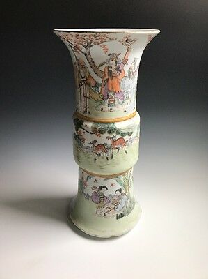An Antique Signed Chinese Porcelain Famille Rose Vase