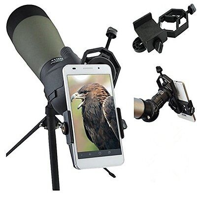 Tripod Head Holder Mount Adapter Camera Phone Attach Spotting Scope Universal