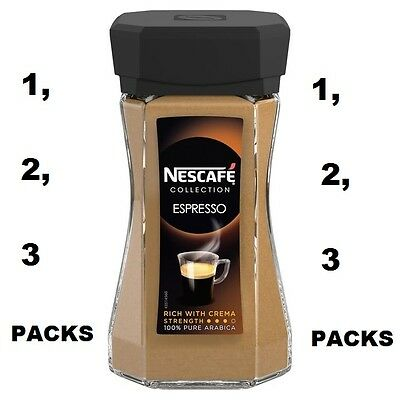 Nescafe Collection Espresso Instant Coffee 100 g - Pack of 1,2,3 UK FREE POST**